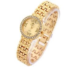 Vogue Ladies's Bracelet Watches Stainless Metal Rhinestone Analog Quartz Watch Girls Feminine Clock Luxurious Model montre femme