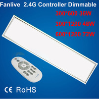 2pcs/lot 72W 600*1200MM Dimmable Led Panel Light AC85 265v Led Panel Lamp SMD2835 Office/Home/Hotel Lighting