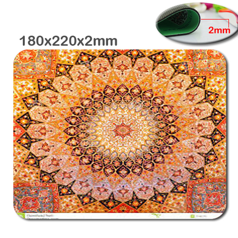 New Arrival Personality Persian Carpet Wheel Non-slip Rectangular Computer Gaming Mouse Pad Gamer Play Mats As A Gift