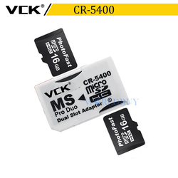 VCK V di Alta Qualità Dual Micro SD TF a Memory Stick MS Pro Duo Adattatore CR-5400 CR5400