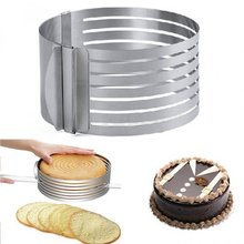 2017 Hot Sale 1 PC Adjustable Cake Cutter Round Shape Bread Cake slicer Adjustable Layered Cake Slicer Mold Cutter Ring Tools