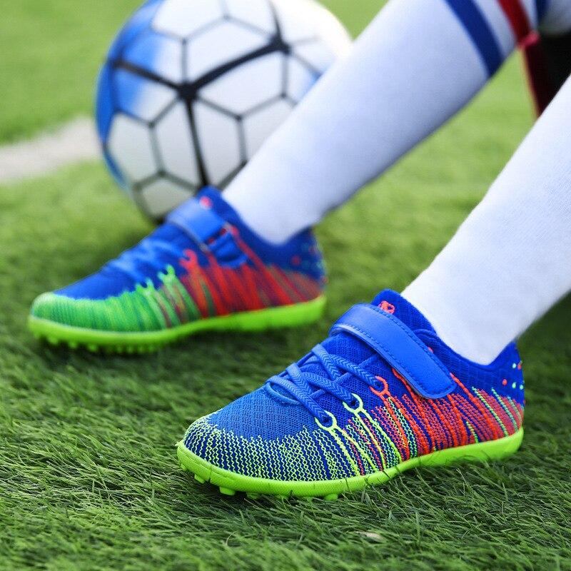 Energisch Jungen Fußballschuhe 2018 Neue Ankunft Hochwertige Fabrik Direkt Kinder Hallenfußball Schuhe Jungen Und Mädchen Gebrochen Nagel Sport Schuhe Eleganter Auftritt