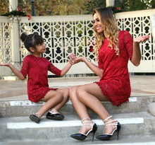 mini lace mother daughter dress mommy and me clothes family look matching outfits mum mom mother daughter dresses clothing mother daughter dresses 2018 christmas family matching outfits mother