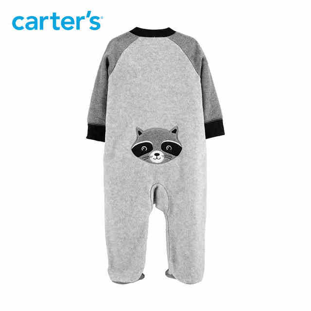 3967577a2b33 Carters footies overalls for baby boy autumn winter cute raccoon ...