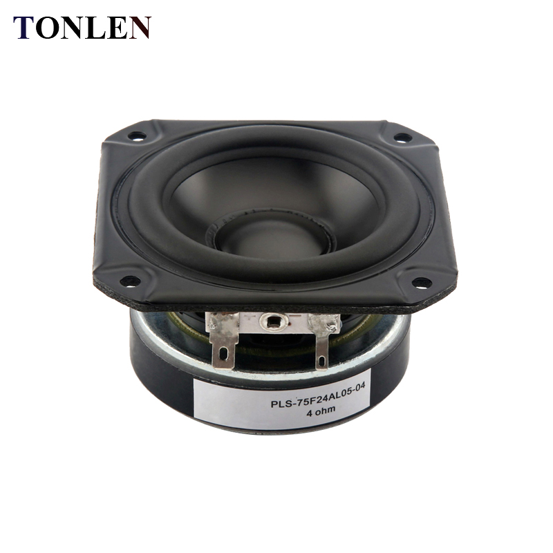 TONLEN 2PCS 4 Ohm Full Range Speaker 3 Inch 20 W HiFi Bluetooth Wireless Music Speakers