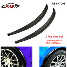 RASTP-Car Styling Arch Wheel Eyebrows Flare Extension Protector Lip Anti-Scratch Soft Strip Fender Flares RS-LKT008