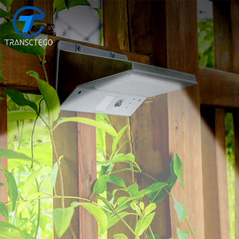 TRANSCTEGO Solar Energy Lamp Stainless Steel Wall Lamp LED Waterproof Garden Outdoor Countyard Lights Human Body Induction 2W super bright outdoor waterproof human body induction led solar energy wall lamp