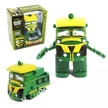 NEW 6pcs/set Robot Trains Transformation Kay Alf Dynamic Train Family Deformation toys for children Action Figure Toys