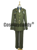 The Avengers Captain America Steve Rogers WWII Army SSR Uniform Cosplay Costume