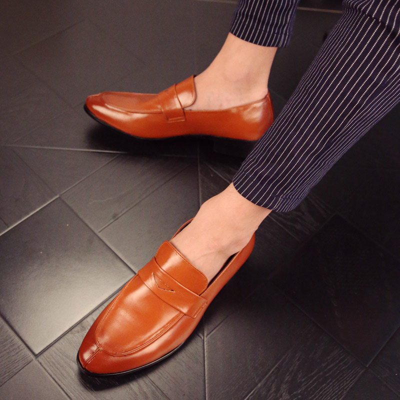 2017 glossy dress shoes Black flat wedding shoes patent leather loafers mens shoes luxury brand Famous oxfords shoes for men mycolen mens shoes round toe dress glossy wedding shoes patent leather luxury brand oxfords shoes black business footwear