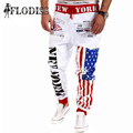 Hot! 2017 New Autumn Fashion Mens Joggers Pants Harem Hip Hop Punk Rock American Flag Print Sporting Pants Men Casual Sweatpants