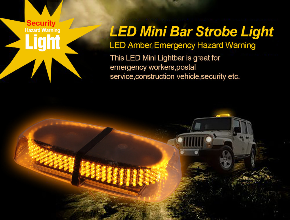 12v 240LED MAGNETIC EMERGENCY BAR RECOVERY WARNING STROBE font b LIGHT b font Beacon Amber