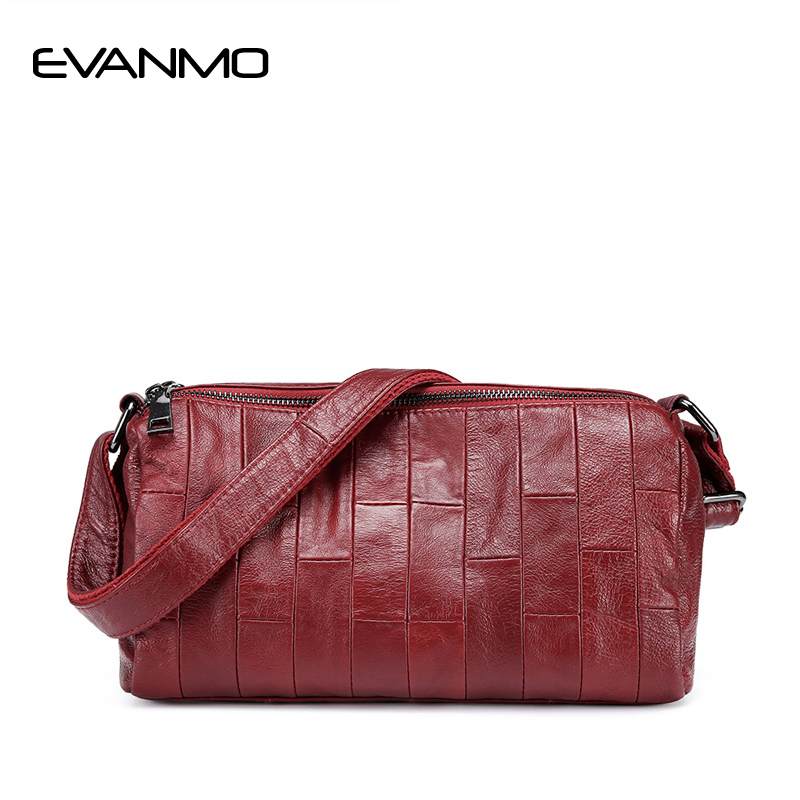 купить Women Soft Genuine Leather Messenger Bags Cow leather Daily Shoulder Bag Women Crossbody Bag Ladies High Quality Cowhide Handbag недорого