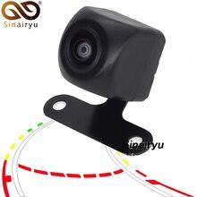 Sinairyu 180 Gradi HD Wide Angle Fisheye Lens Dinamico Traiettoria Linea di Parcheggio Auto di Inverso di Retrovisione di Parcheggio Della Macchina Fotografica del Monitor