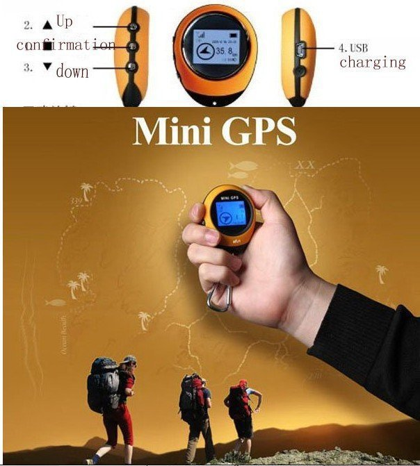 KAITI Mini GPS Tracker Outdoor Practical Travel Receiver Handheld Location Finder USB Rechargeable With Electronic Compass