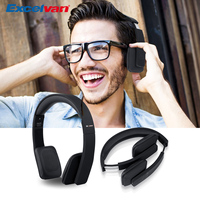 Excelvan Z B301 Wireless Bluetooth 4.1 Adjustable MIC Telescopic fordable Headset with Excellent Voice Quality for Smartphone