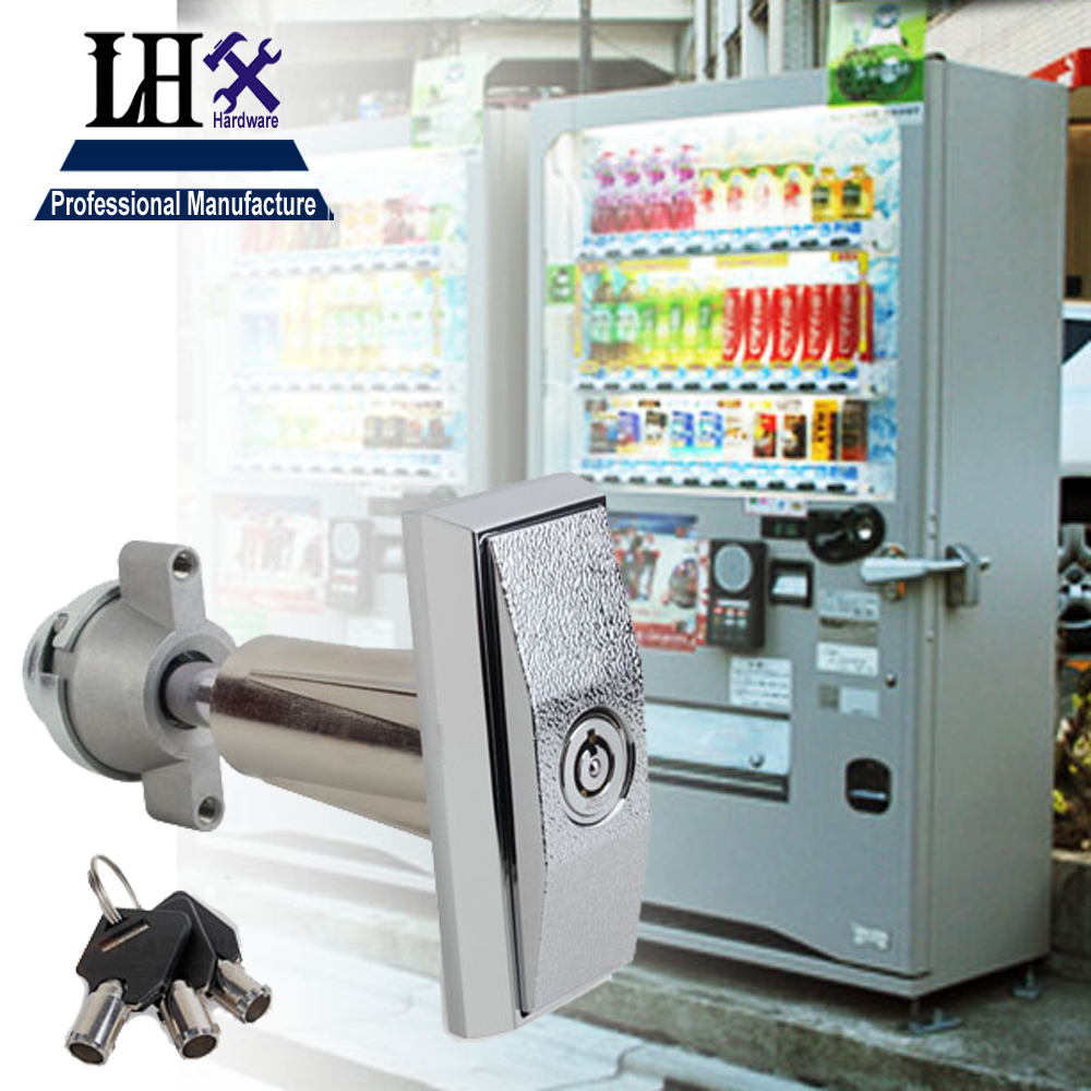Rarelock Vending Lock T Handle Locks With 3 Keys Tublar Lock For Machine and Equipment g top designed 1pcs t handle vending machine locks snack vending machine lock tubular locks with 3pcs keys