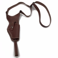 Gun Holster Vertical Genuine Leather Handbag Shoulder Right Hand Gun Holster Suitable For Middle Frame Automatic Guns