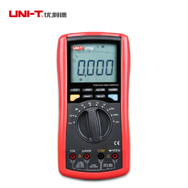 все цены на UNI T UT70B LCD Digital Multimeter 3999 Count AC DC Meter Analog Volt Amp Ohm Temp Capacitance frequency transistor Tester RS232 онлайн