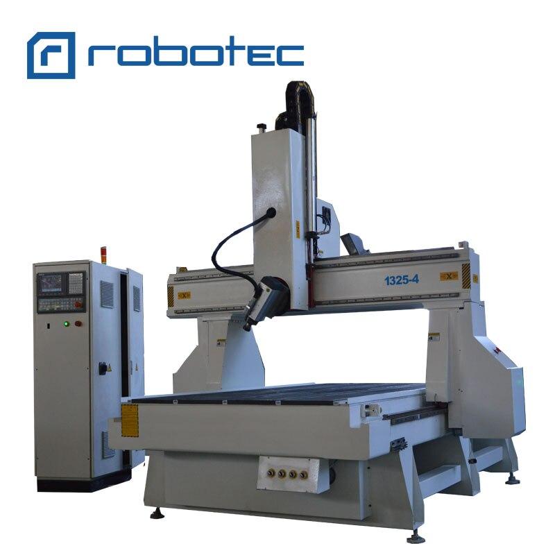 Enrutador CNC de 4 ejes de moldeo de espuma de madera de China de 1325/máquina enrutadora CNC de trabajo de madera de molde de 5 ejes