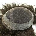 Мужские Парик Французский Шнурок Фронтальная Пу Назад Мужчин Парик Система Замены Волос Наличии H031