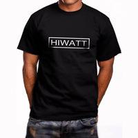 New Hiwatt Guitar Logo Short Sleeve Men's Black T Shirt Size S to 5XLMale Hip Hop funny Tee Shirts cheap wholesale