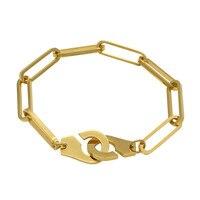 18cm 21cm Stainless Steel Handcuffs Bracelets For Men Women Silver Gold Rose Gold Friendship Bracelet Handcuffs