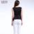 2016 verano nuevo estilo minimalista de color sólido tops V profundo cobertura volantes camisa de gasa
