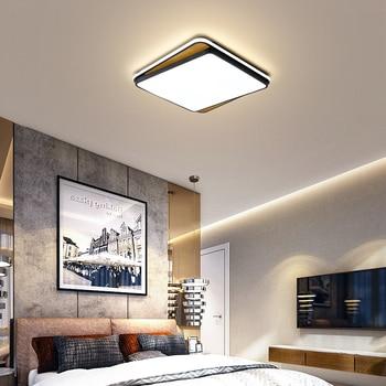 Square/Rectangle Modern Led Ceiling Lihgts For Studyroom Bed room lights lampada White/Black led Ceiling Lamp light fixtures