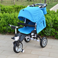 Folding Baby Stroller for Kids from 6 Months to 6 Years Old, Can Sit & Lie, Children 3-wheel Bike, Baby Pushchair