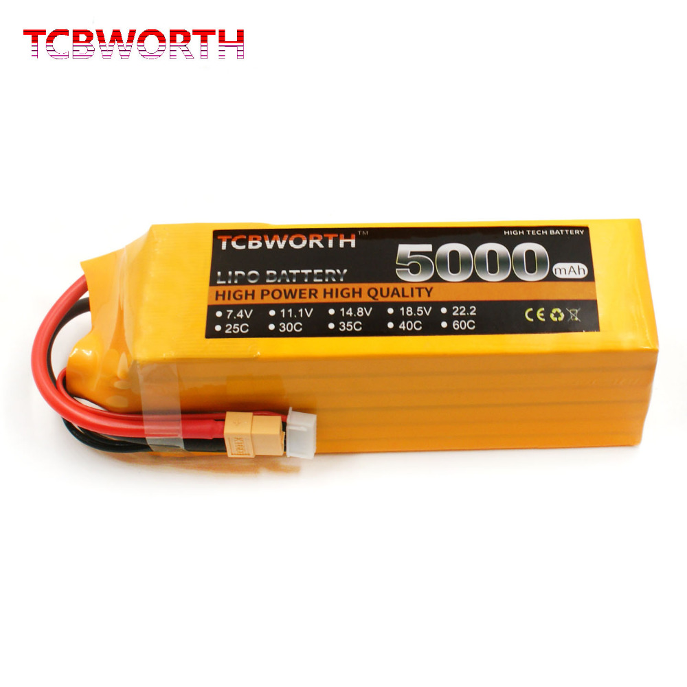RC LiPo battery 4S 14.8V 5000mAh 60C RC Li-ion Battery for RC Airplane Drone Helicopter Quadrotor recharge battery tcbworth rc lipo battery 3s 11 1v 5000mah 60c for rc airplane helicopter quadrotor li ion batteria 3s t xt60