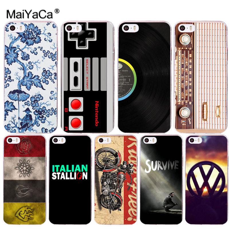 MaiYaCa Retro motorcycle Top Detailed Popular Case for Apple iPhone 8 7 6 6S Plus X 5 5S SE XS XR XS MAX