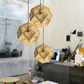 Modern Industrial Pendant Lights Hotel/Restaurant/Bar Pendant Lamps Gold/Silver Stainless Steel Art Geometry Net Lighting