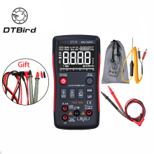 Q1 True-RMS Digital Multimeter Auto Button 9999 Counts With Analog Bar Graph AC/DC Voltage Ammeter Current Ohm Transistor Tester все цены