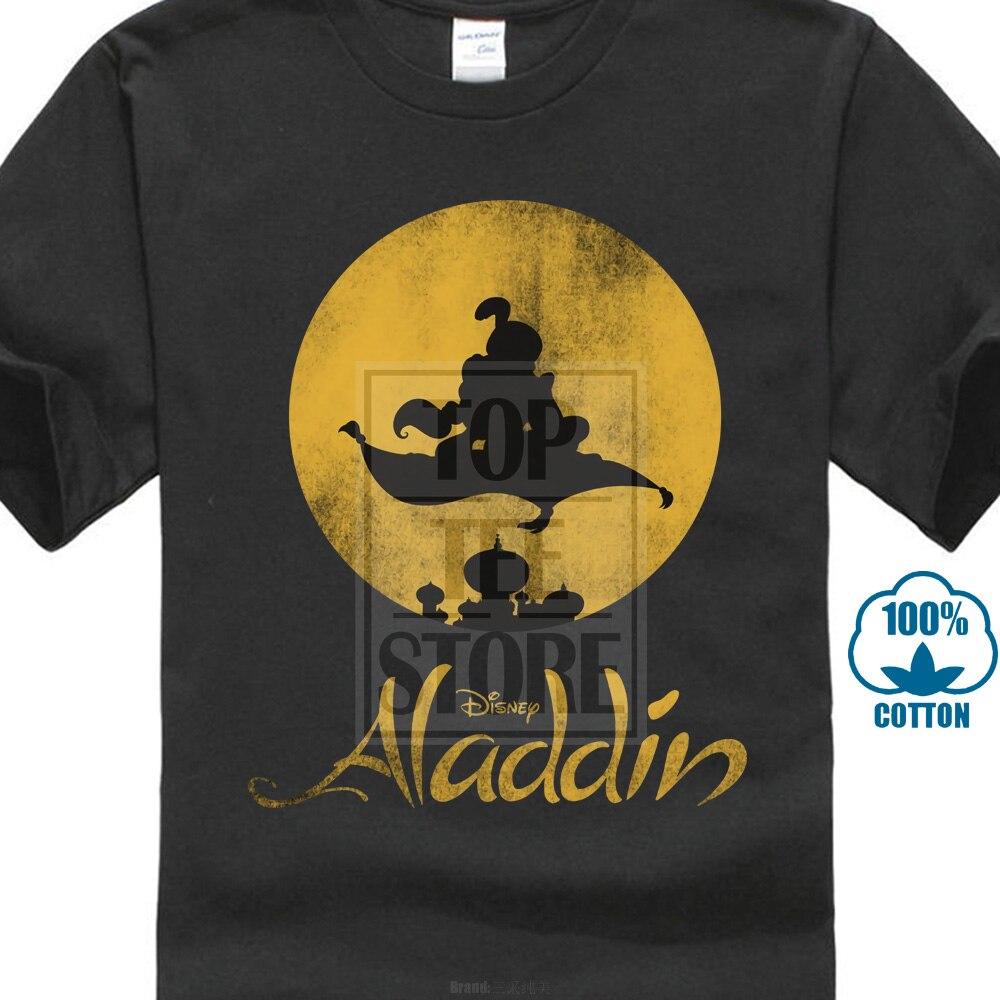 Funny Men   T     Shirt   Women Novelty Tshirt Aladdin Magic Carpet Silhouette Graphic   T     Shirt