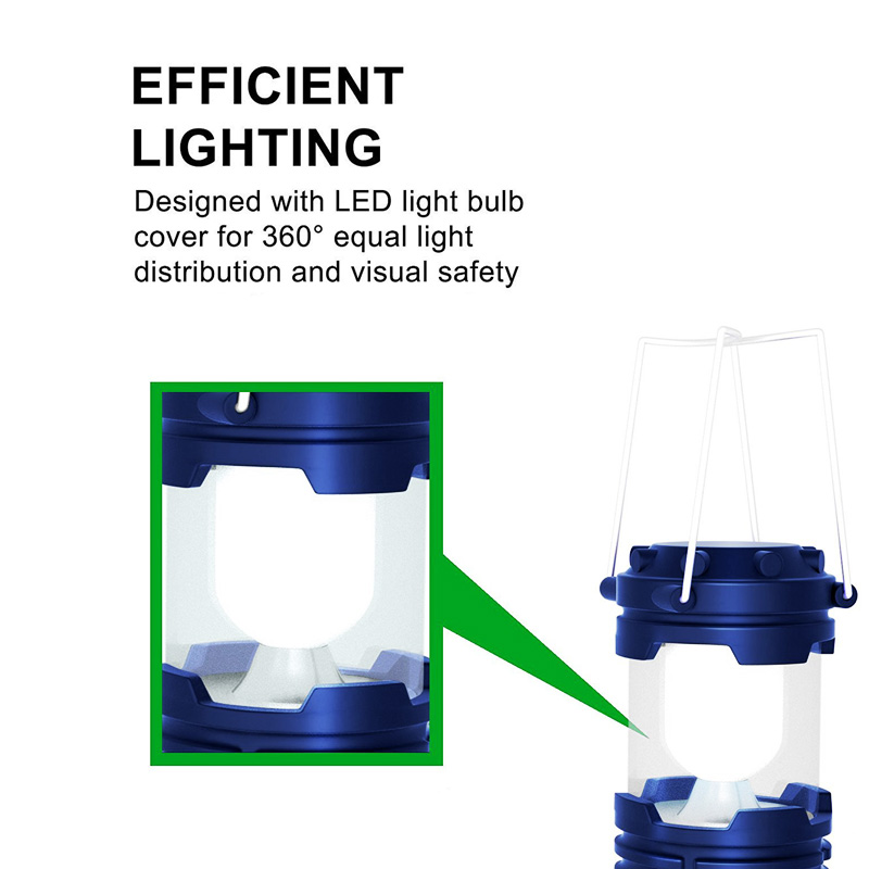 ZK20 дропшиппинг перезаряжаемый фонарь для кемпинга 6 светодиодов Солнечный фонарь для кемпинга палатки для наружных фонарей в наличии в США,...