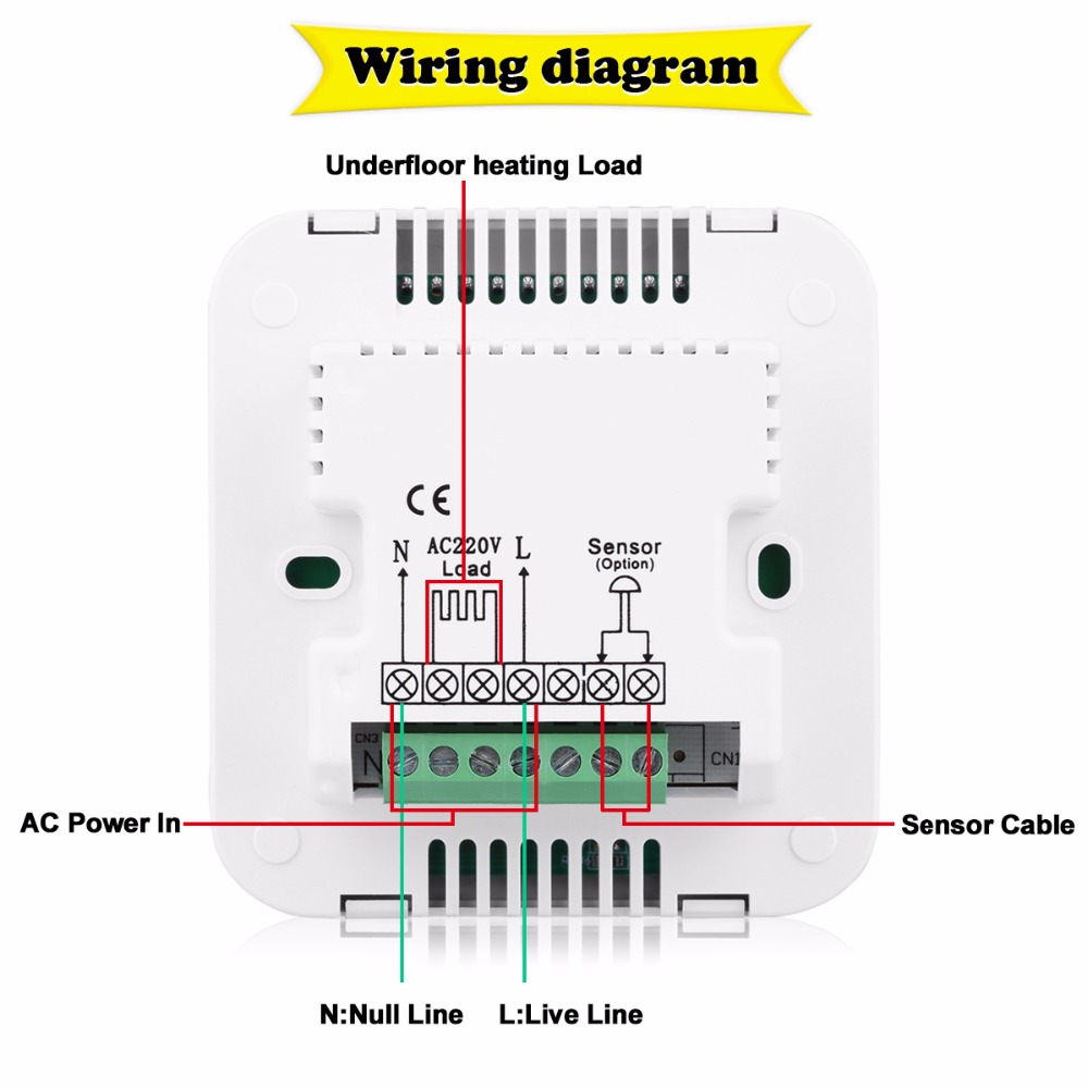 room sensor wiring diagram thermostat wiring library new programmable anti zing heating thermostat lcd room temperature controller thermostat overheat protection keypad lock