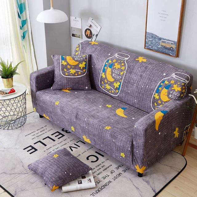chair covers wish youth swivel 2018 bottle moon stars stretch elastic loveseat l shape sectional sofa cover slipcover spandex polyester corner