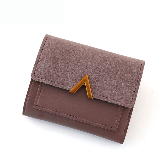 2019 Women Purse Vintage Small Short Leather Wallet Luxury Brand Famous Mini Female Fashion Wallets And Purse Credit Card Holder 1