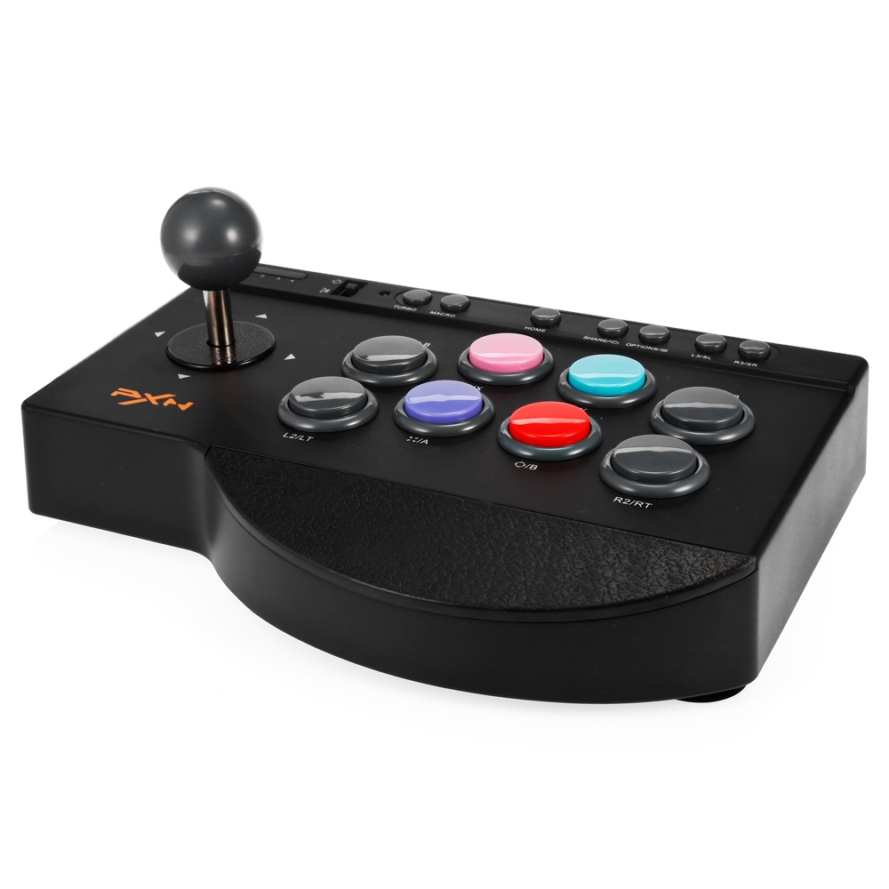 PXN PXN-0082 USB Wired Game Controller Joystick Fighting Stick for PS3/PS4/Xbox one/PC Gaming Controle Handle Controller pxn 0082 game joystick gaming controllers 8 buttons game rocker lever joystick gampad handle controller for ps4 ps3 xbox one