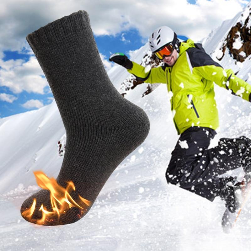 Cotton Skiing Socks for Men Women Winter Warming Cotton Heated Socks Cycling Hiking Snowboard Outdoor Sport Sock Anti Skid 30