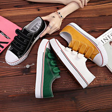 HOT Women's Vulcanize Shoes Sneakers Candy Color Hook&Loop Canvas