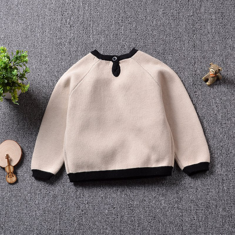 Spring Autumn Baby Sweater Print Long-Sleeve Pullover For Girls Boys Childrens Clothing Toddler Jumper Knitwear 2017 New
