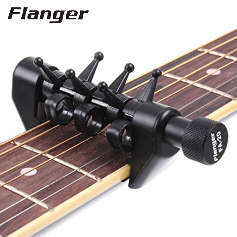 Flanger fa-20 flexi-capo sintonía alternativa portable guitar capo tuning negro