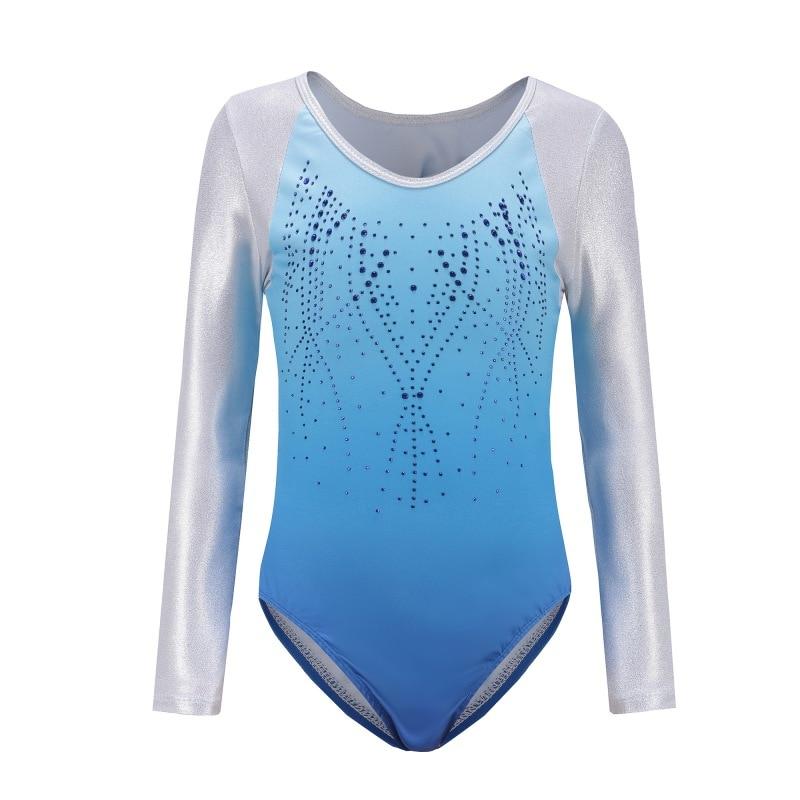 Gymnastics Toddler & Teens Girls Ballet/skate Gymnastics Leotard/unitards Long Sleeve Children Dancewear 5-12years Lovely Luster