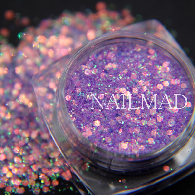 Nails Art & Werkzeuge 1 Box Nagel Mad Holographische Laser Nagel Glitters 3d Nagel Glitters Pailletten Glitter Mix Hexagon Nail Art Glitter Staub