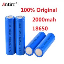 Antirr Original ICR18650 20F discharge lithium batteries 100% 2000mAh electronic cigarette Power Battery mobile power battery(China)