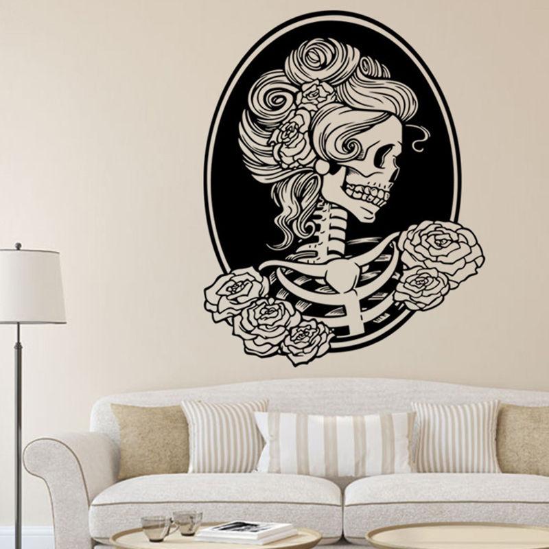 Wall Art sticker Rockabilly Surf Tattoo Full Colour Tiki Zombie