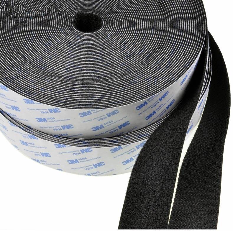 Nylon Hook & Loop self adhesive fastener magic tape, bonding craft diy handmade quilting curtain wide 16/20/25/30/40/50mm