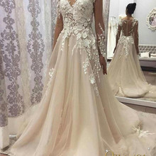 QILAMCA Light Long Sleeve Wedding Dress Wedding Dresses